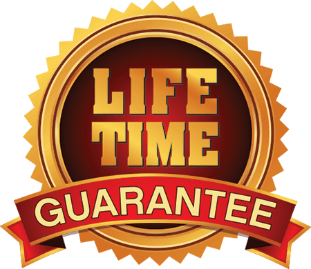 LIDTKE gold and red lifetime guarantee metallic seal